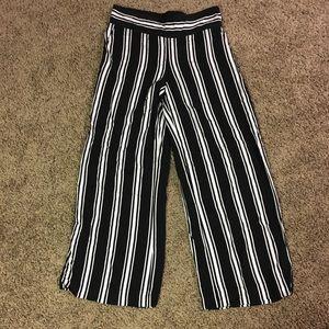 Black and white dress pants